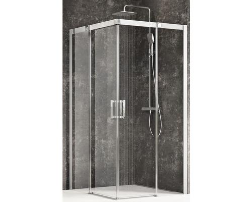 Sprchový kout RAVAK Matrix MSRV4-100/100 satin+Transparent 1WVAAU00Z1
