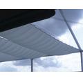Sluneční plachta obdélník, BEZ lankového upínaní, PES, stříbrno-šedá, 3,3x2m
