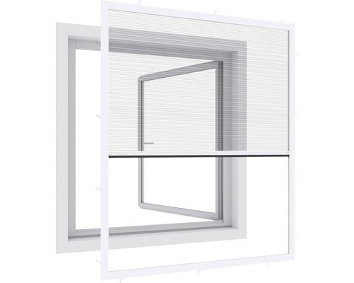 Plisé na okno proti hmyzu Expert 100 x 120 cm bílé