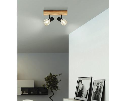 LED bodové osvětlení Eglo 98112 Townshend E27 2x60W hnědo/černé