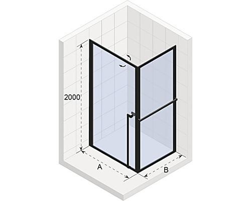 Sprchový kout Riho Lucid GD201 80x80x200 cm barva rámu bílá GD208W080