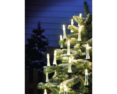 Světelný řetěz na stromek Konstsmide 25 svíček, teplé bílé světlo