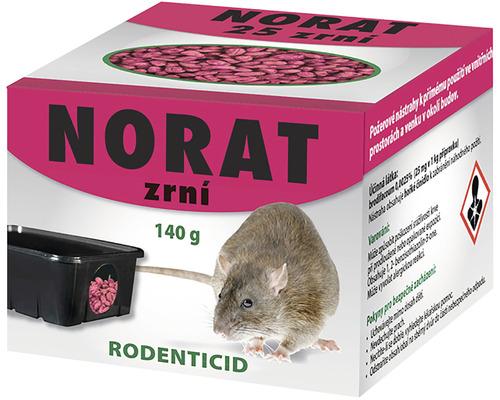 Nástraha k hubení myší domácích, potkanů a krysNorat zrní 140 g