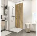 Zadní stěna sprchového koutu Schulte Decodesign dekor dřevo dub Schwarzwald 100x210 cm