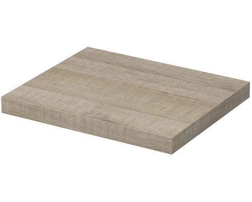 Deska pod umyvadlo 80 x 50 x 5,4 cm dub arizona šedý