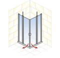 Sprchový kout Schulte Lugano 80x80 cm průhledné sklo alpská bílá