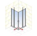 Sprchový kout Schulte Lugano 80x80 cm průhledné sklo hliník