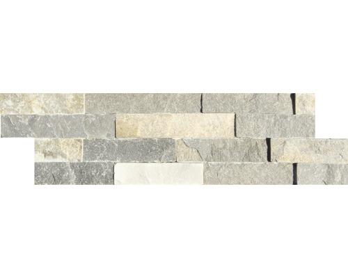 Obkladový kámen QUARZIT Colour Mix 10x40 cm
