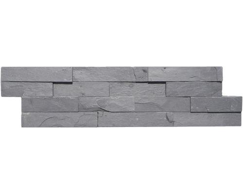 Obkladový kámen SCHIEFER břidlice černá 15x60 cm