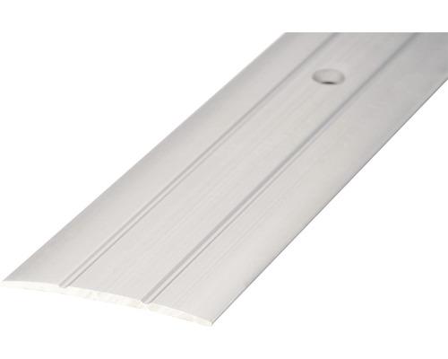 ALU přechodový profil stříbrný 2,7m předvrtaný
