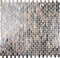 Skleněná mozaika hnědá zlatá 30,5x32,5 cm