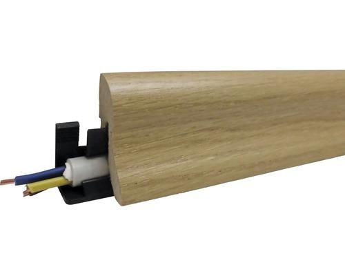 Podlahová lišta MDF dub olejovaný 40 x 22 x 2600 mm