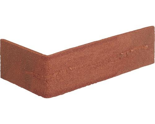 Obkladový kámen rohový odstín červené 24x7,1 cm Elastolith
