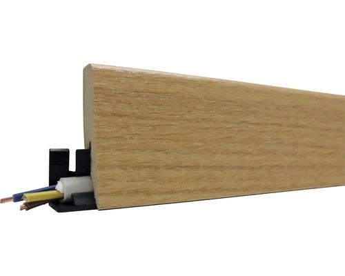 Podlahová lišta MDF dub kaňon 60 x 20 x 2600 mm