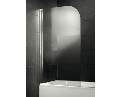 Vanová zástěna Form & style NEW TAHITI deluxe 140x75 cm, otočná, čiré sklo chromový vzhled