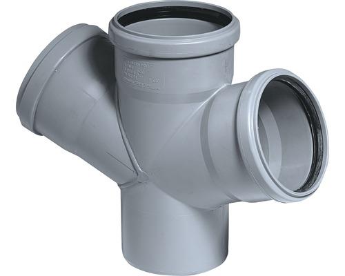 Dvojitá odbočka 67° pro kanalizační potrubí HT DN 110/50/50