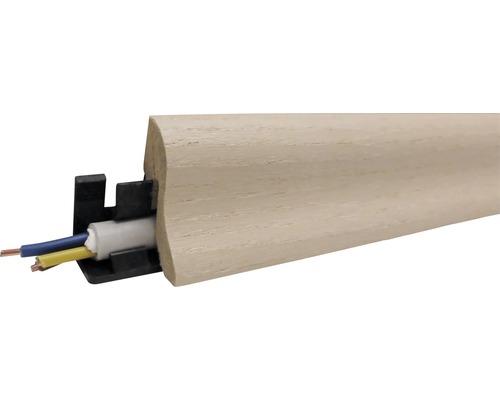 Podlahová lišta MDF jasan šedo-bílý 40 x 22 x 2600 mm