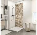 Zadní stěna sprchového koutu Schulte Decodesign dekor kámen obkladový světlý 150x255 cm