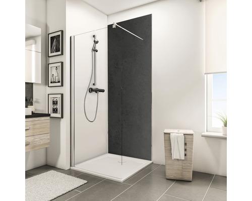 Zadní stěna sprchového koutu Schulte Decodesign dekor kámen antracit 100x255 cm