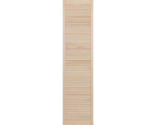 Lamelové dveře otevřené 201,3 x 39,4 cm, borovice