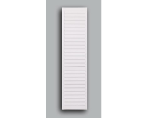 Lamelové dveře otevřené 201,3 x 39,4 cm, bílé