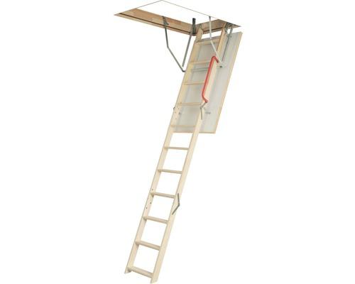 Půdní schody OLE termo 120 x 60 cm, 3dílné, vč. bezpečnostního madla
