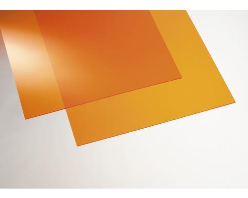 Plexisklo GUTTA akrylátové 500 x 250 x 3 mm hladké, oranžové
