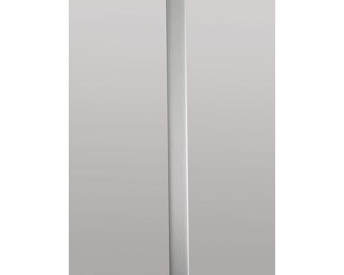 Plastový profil GUTTA ve vzhledu kovu 22 x 1066 mm stříbrný kartáčovaný, pro plastové desky