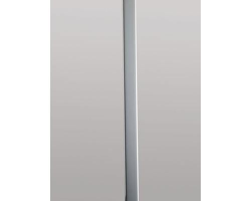 Plastový profil GUTTA ve vzhledu kovu 22 x 1066 mm stříbrný lesklý, pro plastové desky