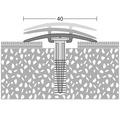 ALU kobercový profil D.O.S. zlatý 1m 40mm