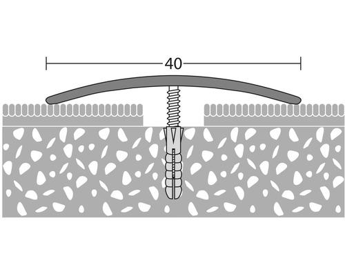 Přechodový profil 2,7m 40mm šroubovací, mosaz (předvrtaný)