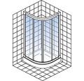 Sprchový kout Schulte Kristall/Trend R550 80x80 cm čiré sklo barva profilu chrom