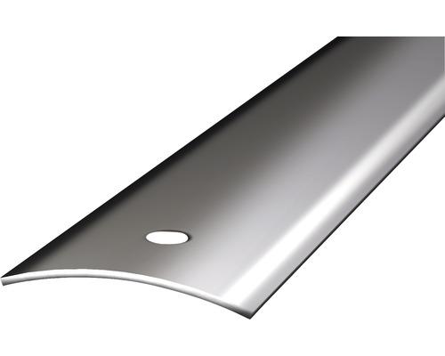 Přechodový profil leštěný 1m 40mm šroubovací, ocelový (předvrtaný)