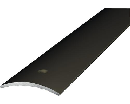 ALU přechodový profil, bronz 1m 30x1,6mm; šroubovací (předvrtaný)