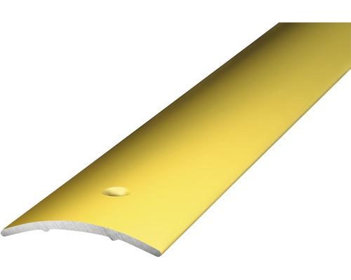 ALU přechodový profil, zlatý; 2,7m 30x1,6mm; šroubovací (předvrtaný)
