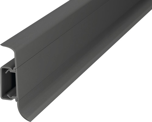 Kanálková lišta KSL50 50x22mm; 2,5m tmavo šedá; středový kabelvý kanál