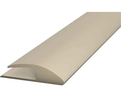 PVC přechodová lišta kobercová 30mm béžová, 1m, jednostran. samolep.