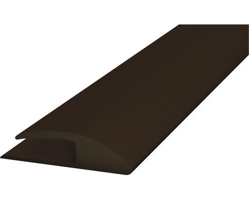PVC přechodová lišta kobercová 30mm hnědá, 1m, jednostran. samolep.