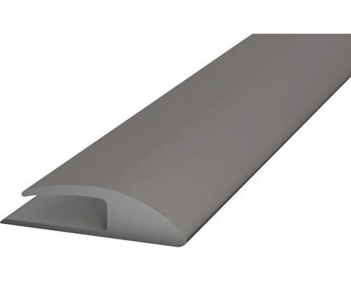 PVC přechodová lišta kobercová 30mm šedá, 1m, jednostran. samolep.