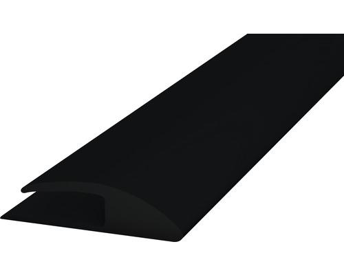 PVC přechodová lišta kobercová 30mm černá, 1m, jednostran. samolep.