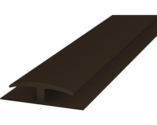 PVC přechodová lišta nasouvací 30mm hnědá; 1m; oboustranná; samolepicí