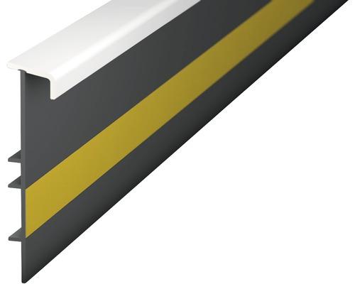 Kobercová soklová lišta bílá 55mm 2,5m s drážkou, nalepovací