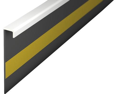 Kobercová soklová lišta bílá; 50mm; 2,5m; bez drážky; nalepovací
