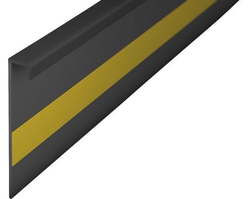 Kobercová soklová lišta tmavo šedá 50mm; 2,5m; bez drážky; nalepovací