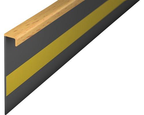Kobercová soklová lišta buk; 50mm; 2,5m; bez drážky; nalepovací