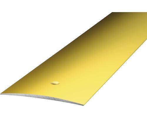 ALU přechodový profil, zlatý 1m 40mm; šroubovací (předvrtaný)
