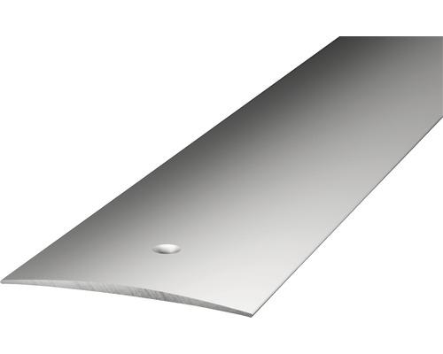 ALU přechodový profil, stříbrný 1m 40mm; šroubovací (předvrtaný)