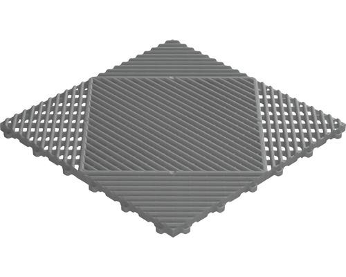 Plastová dlaždice Florco Classic 40 x 40 cm s klick systémem šedá balení 6 ks