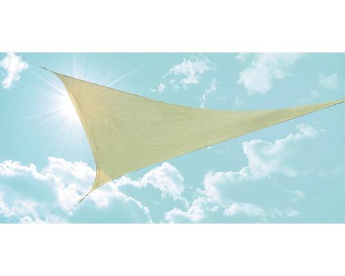 Sluneční plachta trojúhelníková béžová 360x360x360 cm