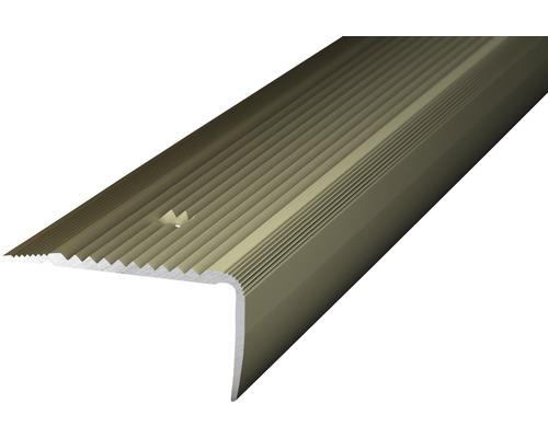 ALU schodový profill NOVA ocelovo matnýt 1m 45x23mm šroubovací